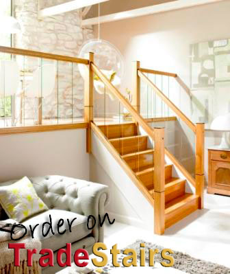 Immix oak and glass balustrade parts