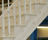 Pine Cut and mitred Stair String Detail