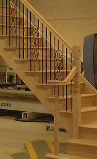 Oak with Bespoke metal balustrade