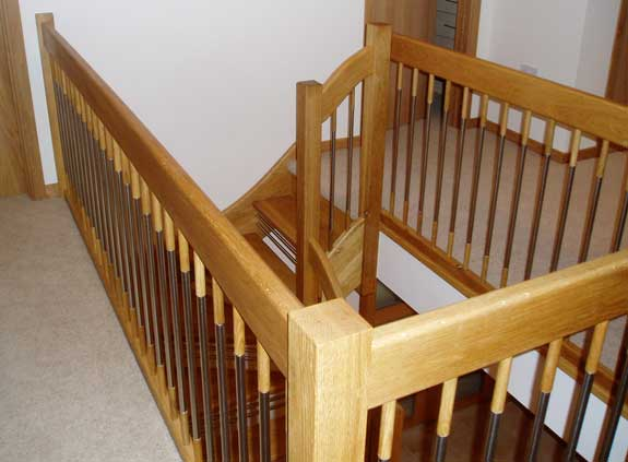 European style landing handrails - new style balusters