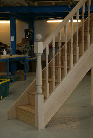 Parana Pine staircase with Hemlock Turned Parts