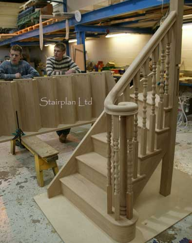 Oak Staircase with a Volute handrail detail