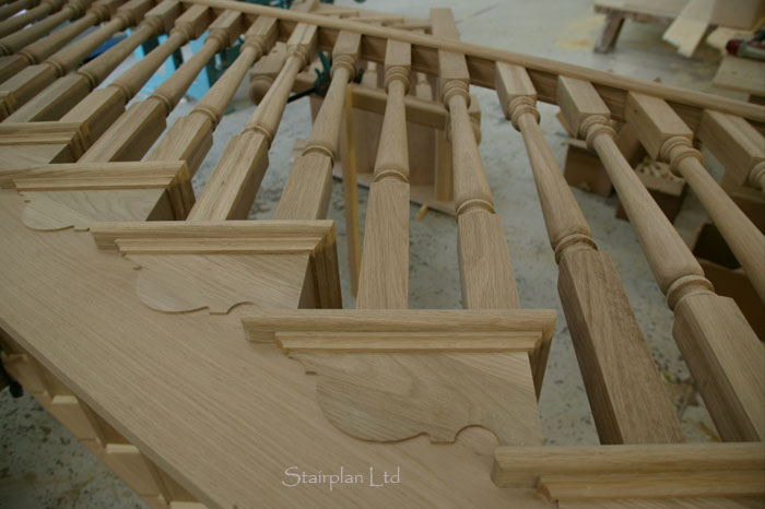 Quality Oak cut String Staircases