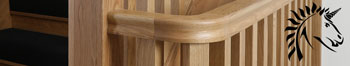 Oak handrail turn fitting for stair balustrades