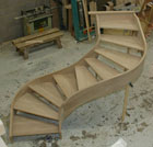 Oak Open Curved Stairs