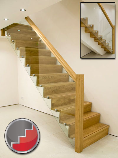 Oak modern staircase design