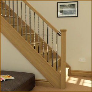Axxys Squared Stair rail system