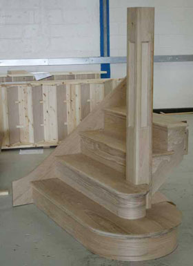 Oak Custom made staircases