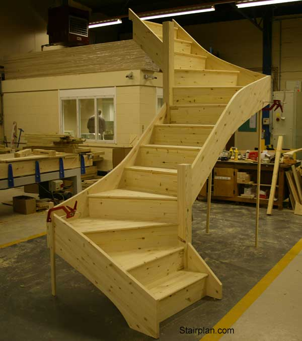 Z Form Winder Staircase in engineered Pine